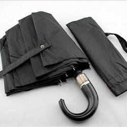 Мужской зонт с кожаной ручкой
