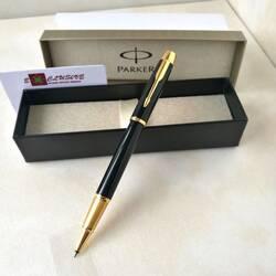Ручка Parker, черная (глянцевая, вставки золото)