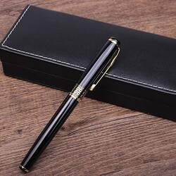 Подарочная ручка с золотистым узором, глянцевая