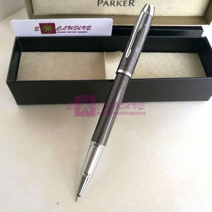 Ручка Parker, серая (текстура, глянцевая)