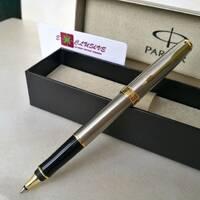 Ручка Parker, Sonnet (серебро, золотые вставки)