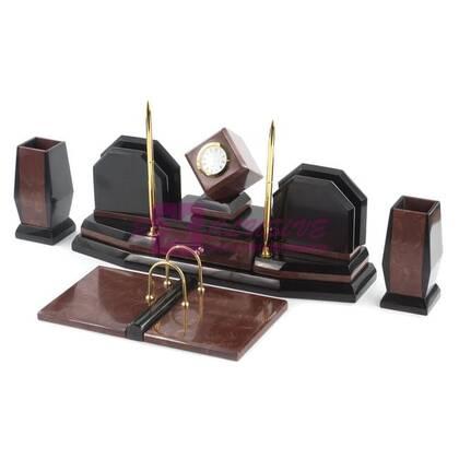 Письменный набор Куб из лемезита и змеевика