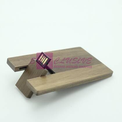 Подарочная флешка-визитка (дерево)