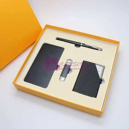 Подарочный набор - ручка, флешка, powerbank, визитница