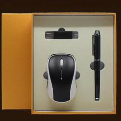 Набор - ручка, флешка, мышь