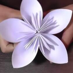 Цветок-оригами