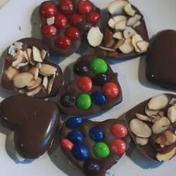 Шоколадные сердечки для любимой