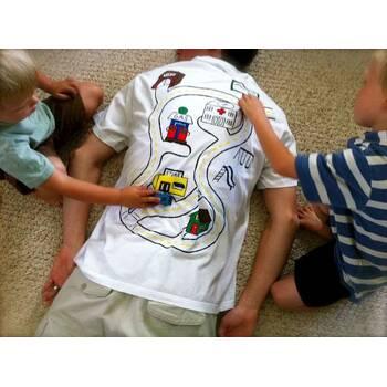 Подарок для папы - футболка своими руками