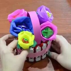 Корзинка из конфет