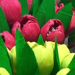 Тюльпаны из бумаги с сюрпризом внутри