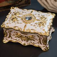 Шкатулка для украшений Бриллиант (белая/золото)