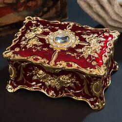 Шкатулка для украшений Бриллиант (красная/золото)