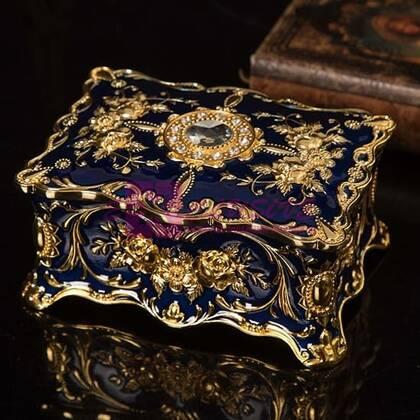 Шкатулка для украшений Бриллиант (синяя/золото)