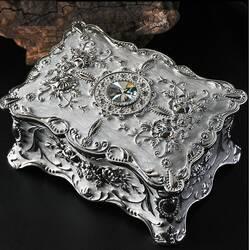 Шкатулка для украшений Бриллиант (белая/серебро)