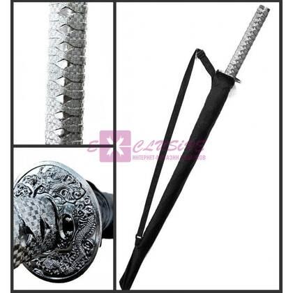 Зонт-катана (серебристая ручка)